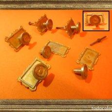 Antigüedades: ANTIGUOS POMOS TIRADORES EN BRONCE PRECIOSOS (IDEALES PARA RESTAURACIÓN) 100% ORIGINALES. Lote 105109759