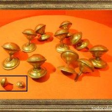 Antigüedades: ANTIGUOS POMOS TIRADORES EN BRONCE PRECIOSOS (IDEALES PARA RESTAURACIÓN) 100% ORIGINALES. Lote 105110171