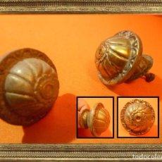 Antigüedades: ANTIGUOS POMOS TIRADORES EN BRONCE PRECIOSOS IDEALES PARA RESTAURACIÓN 100% ORIGINALES . Lote 105117771