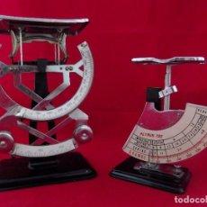 Antigüedades: LOTE BASCULAS PESACARTAS PETRUS (1 KG Y 500 GR) - MODELOS 120 Y 122 - SANTA PERPÈTUA. Lote 201278606