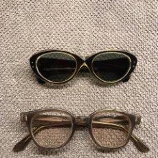 Antigüedades: GAFAS VINTAGE (2) EN PASTA.... Lote 105212695