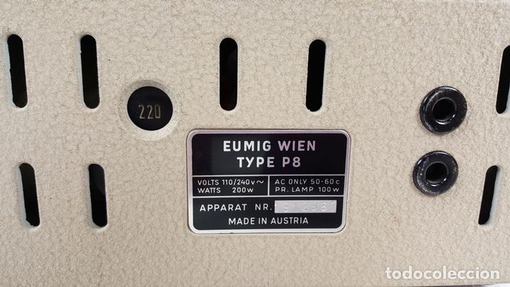 Antigüedades: PROYECTOR EUMIG P8. FABRICADO EN AUSTRIA. MALETA ORIGINAL. 1950. - Foto 18 - 105253151