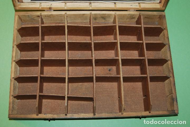 Antigüedades: CAJA DE MADERA PARA RECAMBIOS DE AUTOMÓVIL - TALLER - SEAT, CITROEN, PEGASO, BARREIROS - AÑOS 60 - Foto 6 - 105333747
