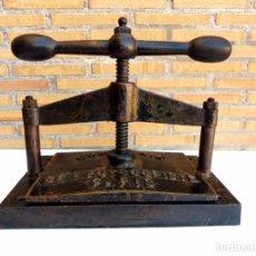 Antigüedades: PRENSA DE LIBRO - SIGLO XIX. Lote 105338223