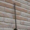 Antigüedades: CAZO ANTIGUO EN HIERRO FORJADO Y LATON.. Lote 105630571