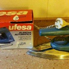 Antigüedades: PLANCHA UFESA AÑOS 80/90 FUNCIONANDO. Lote 105651183