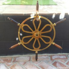 Antiquités: ANTIGUO TIMÓN BRONCE Y MADERA SIGLO XIX. Lote 240639390