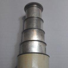 Antigüedades: CATALEJO ANTIGUO 5 CUERPOS PLATA Y MARFIL SELLADO. Lote 106021678