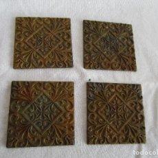 Antigüedades: LOTE DE 4 EMBELLECEDORES DE BRONCE ANTIGUOS 5 CM X 5 CM EMBELLECEDOR JOSE MONTESINOS VALENCIA. Lote 106045415