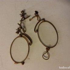 Antigüedades: ANTIGUAS GAFAS. LAS TIPICAS DE QUEVEDO. DEMONTADAS. CON CRISTAL. Lote 106070575