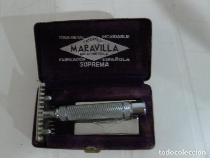 MAQUINILLA AFEITAR ANTIGUA MARCA MARAVILLA COMPLETA (Antigüedades - Técnicas - Barbería - Maquinillas Antiguas)