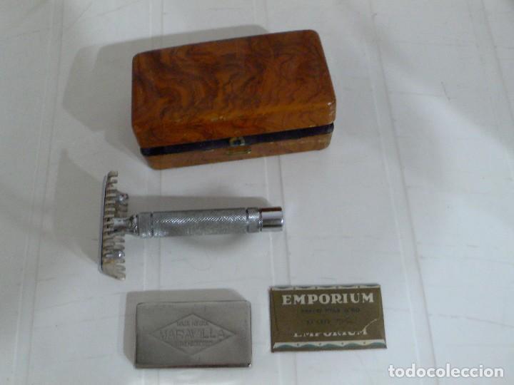 Antigüedades: MAQUINILLA AFEITAR ANTIGUA MARCA MARAVILLA COMPLETA - Foto 2 - 106074883