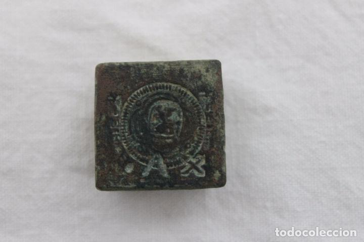 Antigüedades: RARO PONDERAL CON MARCAS DE CASTILLA, DE 27 GRAMOS - Foto 12 - 70487213
