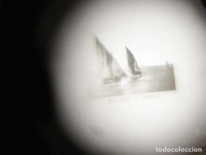 Antigüedades: ANTIGUO STANHOPE LAPICERO CON FORMA DE SOMBRILLA TALLADO EN HUESO RECUERDO DE ZARAUZ UNA VISTA - Foto 3 - 106129159