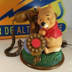 Teléfonos: TELEFONO DE SOBREMESA INFANTIL DISNEY WINNIE THE POOH - FUNCIONA. Lote 209210056