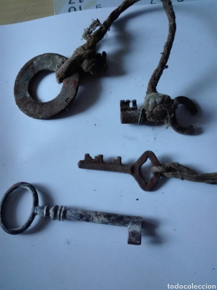 LLAVES ANTIGUAS (Antigüedades - Técnicas - Herramientas Profesionales - Mecánica)