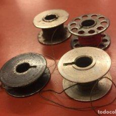 Antigüedades: LOTE DE 4 CANILLAS PARA MAQUINA DE COSER DE DIFERENTES MODELOS O TAMAÑO. Lote 106613943