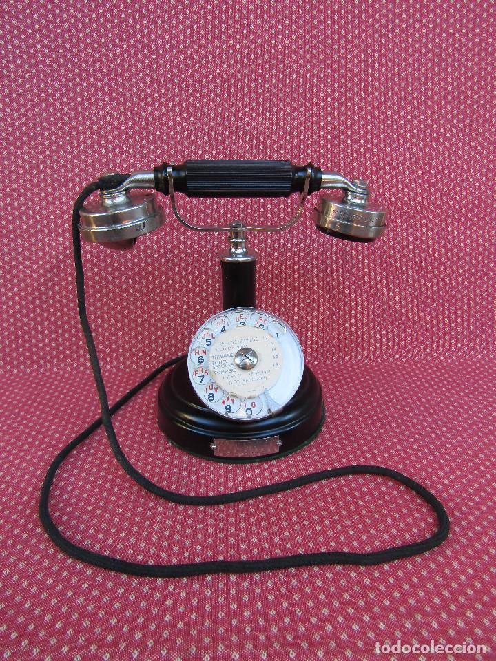 ANTIGUO TELEFONO DE MESA, FABRICADO POR LA SOCIETE DES TÉLÉPHONES ERICSSON. (COLOMBES SEINE). (Antigüedades - Técnicas - Teléfonos Antiguos)