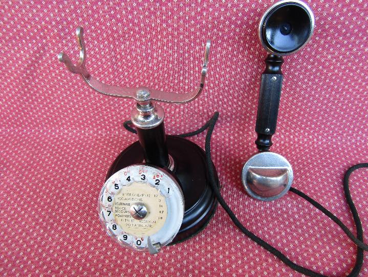 Teléfonos: ANTIGUO TELEFONO DE MESA, FABRICADO POR LA SOCIETE DES TÉLÉPHONES ERICSSON. (Colombes Seine). - Foto 6 - 133785751