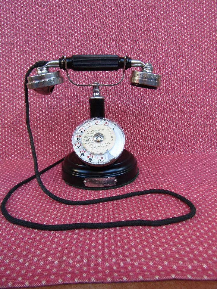 Teléfonos: ANTIGUO TELEFONO DE MESA, FABRICADO POR LA SOCIETE DES TÉLÉPHONES ERICSSON. (Colombes Seine). - Foto 13 - 133785751