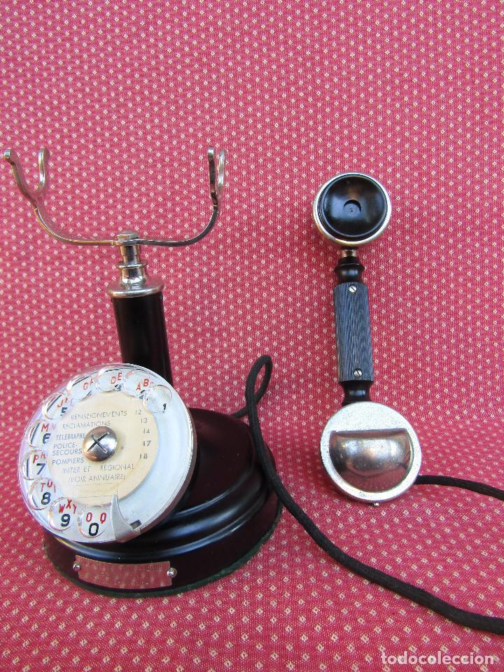 Teléfonos: ANTIGUO TELEFONO DE MESA, FABRICADO POR LA SOCIETE DES TÉLÉPHONES ERICSSON. (Colombes Seine). - Foto 5 - 133785751
