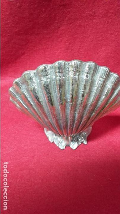 Antigüedades: Jabonera forma de concha en bronce 1950 - Foto 2 - 106797019