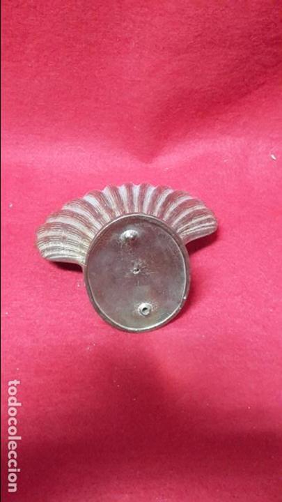 Antigüedades: Jabonera forma de concha en bronce 1950 - Foto 3 - 106797019