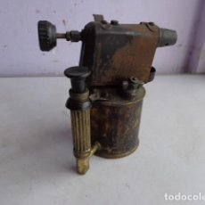Antigüedades: MUY ANTIGUO (FINALES 1800) E IMPORTANTE SOLDADOR SOPLETE TUBERO FONTANERO COMPLETO Y BUEN ESTADO . Lote 106891779