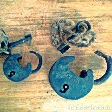 Antigüedades: CANDADOS ANTIGUOS DE FORJA. Lote 106999083