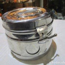 Antigüedades: CAJA MÉDICA DE ACERO. 14 CMS. DE DIÁMETRO X 12,5 CMS. ALTURA.. Lote 109443923