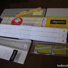 Antigüedades: REGLA DE CALCULO ARISTO HYPERLOG 0972 CON ESCALAS HIPERBOLICAS - SLIDE RULE RECHENSCHIEBER 972. Lote 107083495