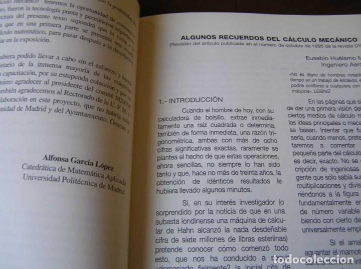 Antigüedades: RECUERDOS DEL CÁLCULO MECÁNICO EXPOSICIÓN DE MAQUINAS DE CALCULAR OCTUBRE 2000 - Foto 11 - 107087587
