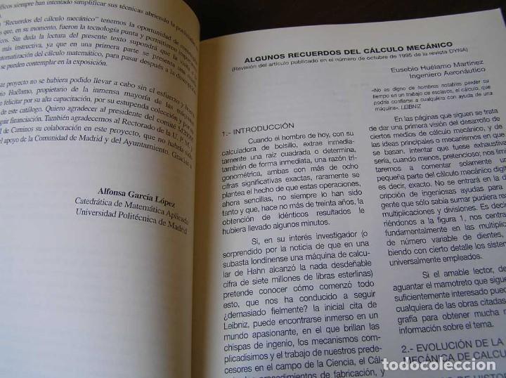 Antigüedades: RECUERDOS DEL CÁLCULO MECÁNICO EXPOSICIÓN DE MAQUINAS DE CALCULAR OCTUBRE 2000 - Foto 19 - 107087587