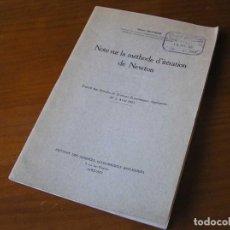 Antigüedades: NOTE SUR LA MÉTHODE D´ITÉRATION DE NEWTON - ALBERT BEUMIER UNIVERSITÉ DE LOUVAIN -. Lote 107090159