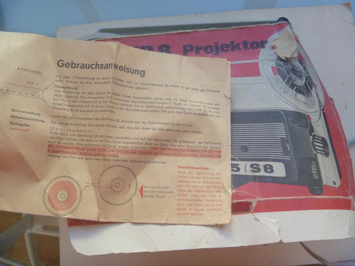 Antigüedades: ANTIGUO PROYECTOR DE SUPER 8 . AUTOMATIC 505 / S8. INSTRUCCIONES EN ALEMAN - Foto 2 - 107199451