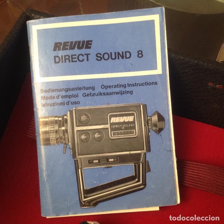 Antigüedades: Tomavistas Eumig Revue direct sound 8, con micrófono , auricular, en su estuche y papeles. Ver fotos - Foto 4 - 107270487