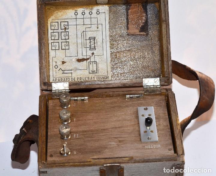 Antigüedades: RARÍSIMO Y MUY ANTIGUO APARATO DE PRUEBAS, POSIBLEMENTE DE TELECOMUNICACIONES EE-59 GR 1 - Foto 2 - 107314347