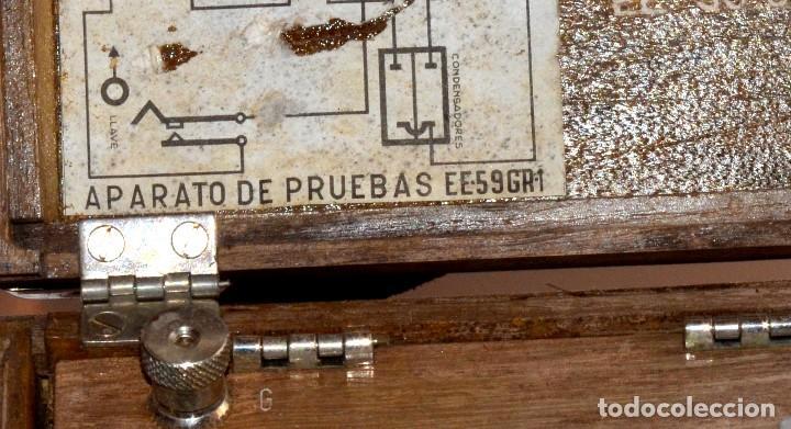 Antigüedades: RARÍSIMO Y MUY ANTIGUO APARATO DE PRUEBAS, POSIBLEMENTE DE TELECOMUNICACIONES EE-59 GR 1 - Foto 3 - 107314347