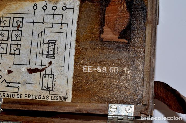 Antigüedades: RARÍSIMO Y MUY ANTIGUO APARATO DE PRUEBAS, POSIBLEMENTE DE TELECOMUNICACIONES EE-59 GR 1 - Foto 5 - 107314347