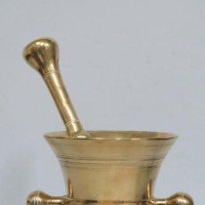 Antigüedades: ANTIGUO MORTERO HOLANDES DE DOBLE MANO. SIGLO XVIII-XIX. Lote 107452763