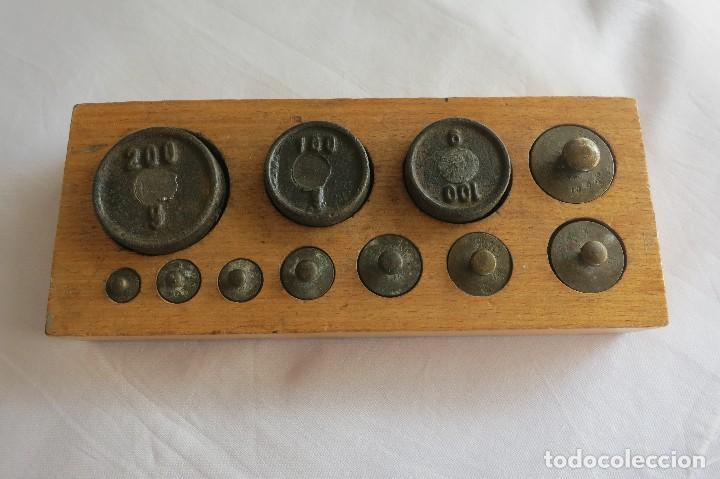 CAJA DE PESAS ALEMANIA 1916 (Antigüedades - Técnicas - Medidas de Peso - Ponderales Antiguos)