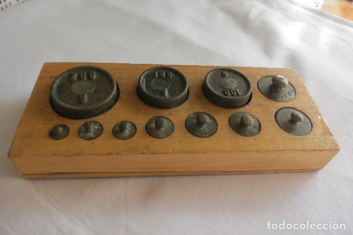 Antigüedades: Caja de pesas Alemania 1916 - Foto 2 - 107500879
