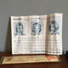 Antigüedades: CORTA CABELLO ALBI - CORTA PELO - SITGES - BARCELONA AÑOS 60-70. Lote 107576528