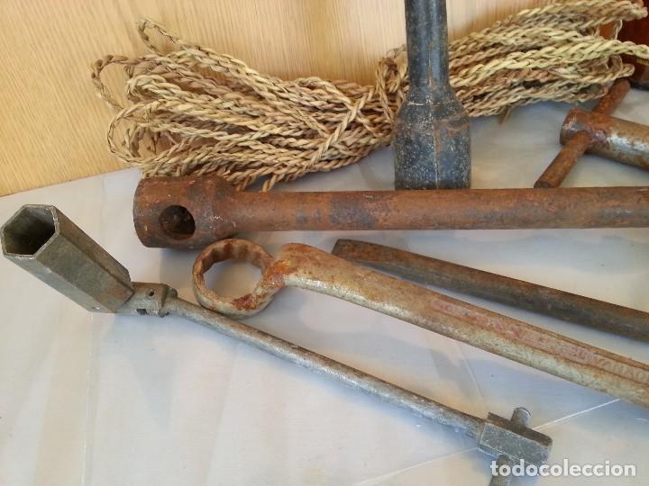Antigüedades: Llaves de mecánico variadas. 7 herramientas. - Foto 2 - 176297927