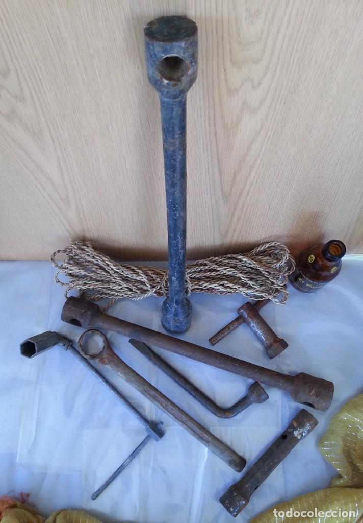 Antigüedades: Llaves de mecánico variadas. 7 herramientas. - Foto 4 - 176297927