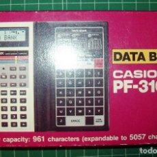 Antigüedades: CASIO PF-3100 DATA BANK CALCULADORA ; AGENDA - EN VENTA HASTA EL 31 DE AGOSTO. Lote 107685907
