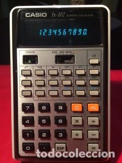 CALCULADORA CASIO FX 102 ¡ AÑO 1976 !!!!!!!! VINTAGE (Antigüedades - Técnicas - Aparatos de Cálculo - Calculadoras Antiguas)