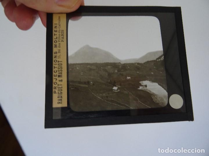 CRISTAL 10 X 8,5 MOLTENI RADIGUET MASSIOT LAC SEELISBERG (Antigüedades - Técnicas - Aparatos de Cine Antiguo - Linternas Mágicas Antiguas)