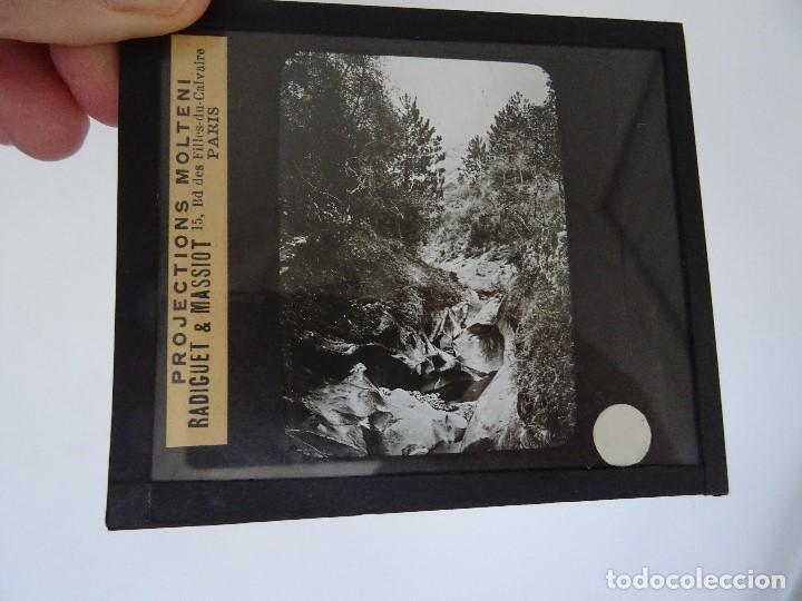CRISTAL 10 X 8,5 MOLTENI RADIGUET MASSIOT TORRENT MESSTON? (Antigüedades - Técnicas - Aparatos de Cine Antiguo - Linternas Mágicas Antiguas)