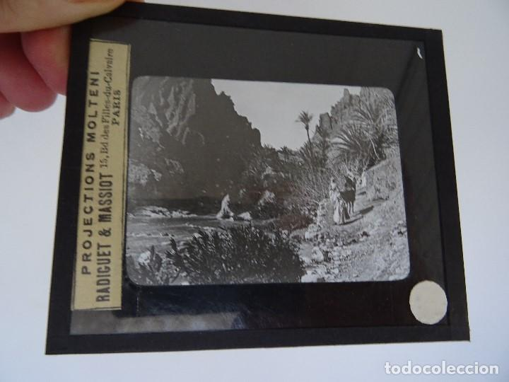 CRISTAL 10 X 8,5 MOLTENI RADIGUET MASSIOT EL KANTARA DESEERT I OUED (Antigüedades - Técnicas - Aparatos de Cine Antiguo - Linternas Mágicas Antiguas)